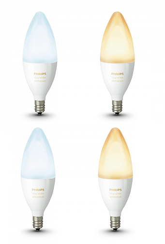 Philips Hue E14.Combideal Philips Hue E14 4x Ledlamp Kaars White Ambiance