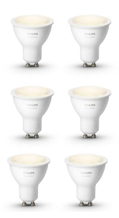 combideal philips hue gu10 6x ledlamp white 929001819501. Black Bedroom Furniture Sets. Home Design Ideas